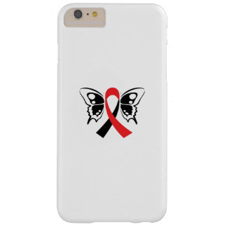 Head and Neck Cancer Awareness Ribbon Butterfly Barely There iPhone 6 Plus Case