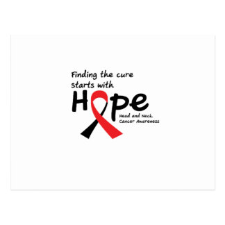 Head and Neck Cancer Awareness Ribbon Hopes Postcard