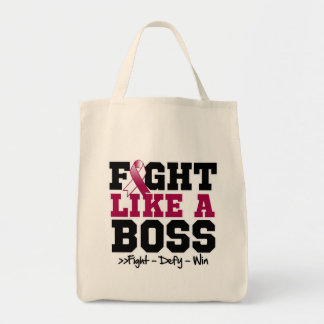 Head and Neck Cancer Fight Like a Boss Canvas Bags