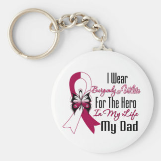 Head and Neck Cancer Hero My Dad Basic Round Button Keychain