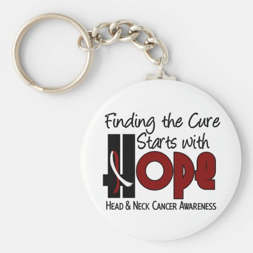 Head and Neck Cancer HOPE 4 Keychains