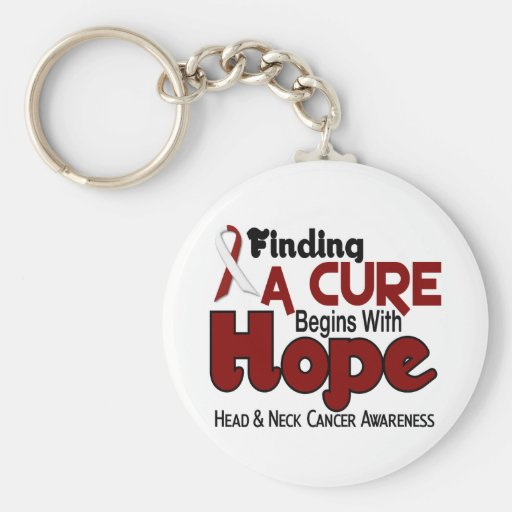 Head and Neck Cancer HOPE 5 Keychains