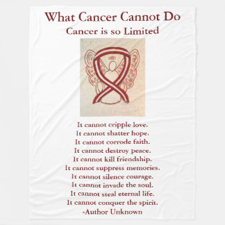 Head and Neck Cancers Ribbon Chemo Blankets