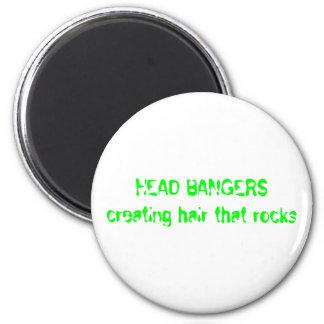 HEAD BANGERS creating hair that rocks Magnet