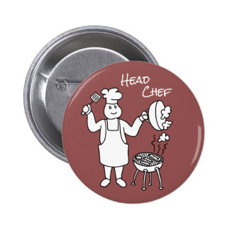 Head Chef 2 Inch Round Button