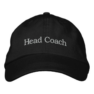 Head Coach Embroidered Baseball Cap