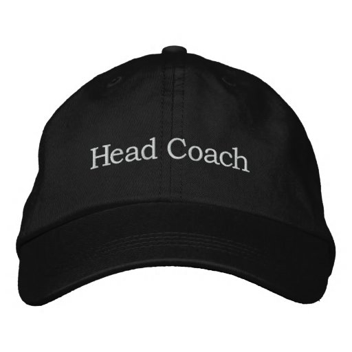 Head Coach Embroidered Baseball Caps