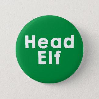 Head Elf 2 Inch Round Button
