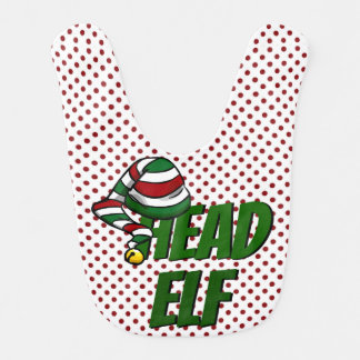 Head Elf BABY BIB