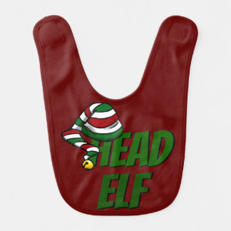 Head Elf BABY BIB