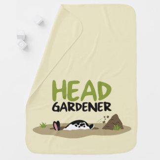 Head Gardener Illustration Baby Blanket