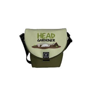 Head Gardener Illustration Courier Bag
