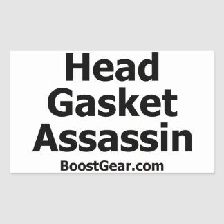 Head Gasket Assassin Sticker by BoostGear.com
