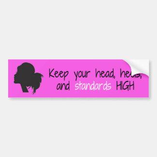Head Heels and Standards High Bumper Sticker