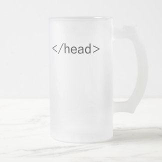 head html tag beer mug
