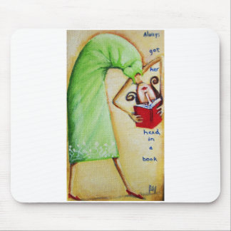 Head in a Book Mousepad