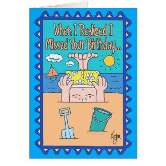 HEAD IN SAND Belated Birthday Card