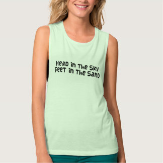 Head in the sky Feet in the sand Tank Top