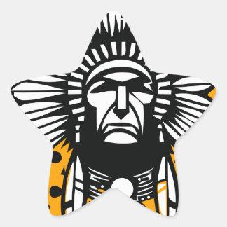 Head indian star sticker