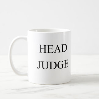Head judge coffee mug