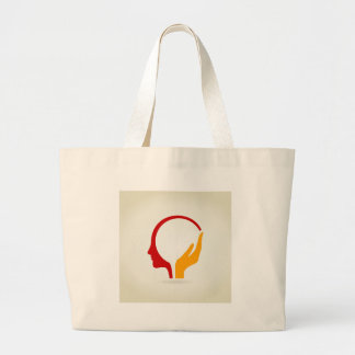 Head Large Tote Bag