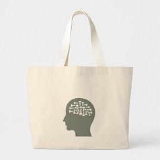 Head Large Tote Bag