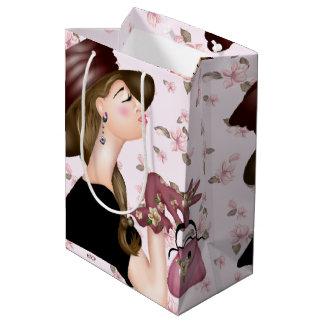 HEAD MODEL CARTOON Gift Bag MEDIUM GLOSSY