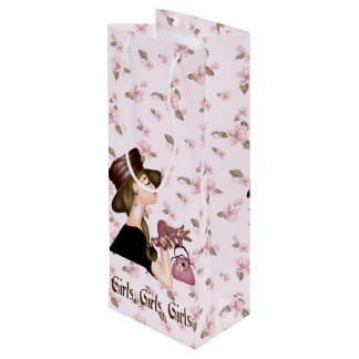 HEAD MODEL CARTOON Gift Bag WINE GLOSSY