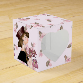 HEAD MODEL CARTOON HEART 2x2 Favor Box