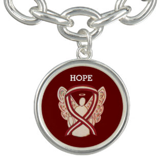 Head & Neck Cancer Awareness Ribbon Charm Bracelet