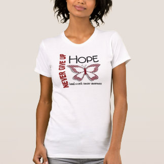 Head Neck Cancer Never Give Up Hope Butterfly 4.1 T-Shirt