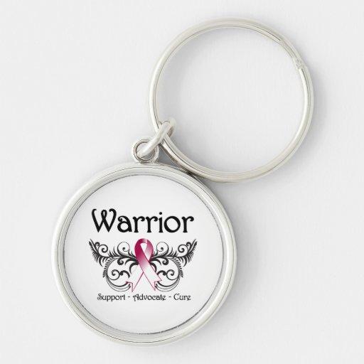 Head Neck Cancer Warrior Scroll Key Chains