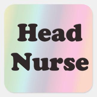 Head Nurse Square Sticker