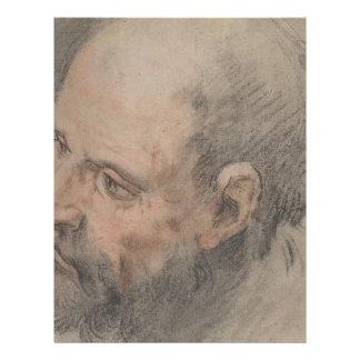 Head of a Bearded Man Looking Left Letterhead