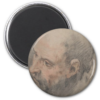 Head of a Bearded Man Looking Left Magnet