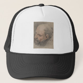 Head of a Bearded Man Looking Left Trucker Hat