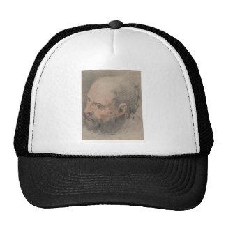 Head of a Bearded Man Looking Left Trucker Hat