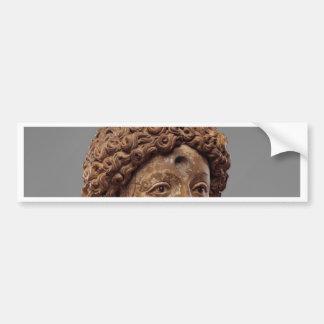 Head of a Buddha or Bodhisattva Bumper Sticker