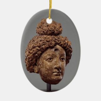Head of a Buddha or Bodhisattva Ceramic Ornament