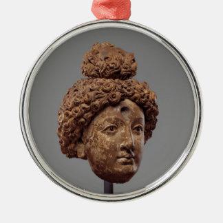 Head of a Buddha or Bodhisattva Metal Ornament