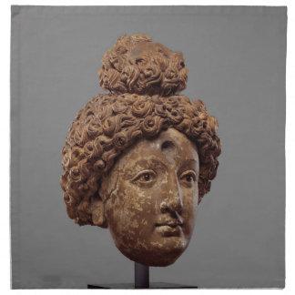 Head of a Buddha or Bodhisattva Napkin