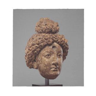 Head of a Buddha or Bodhisattva Notepad