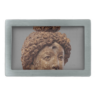 Head of a Buddha or Bodhisattva Rectangular Belt Buckle