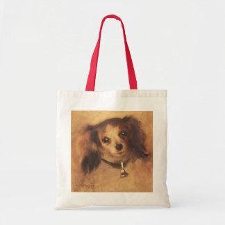 Head of a Dog by Pierre Renoir, Vintage Fine Art Budget Tote Bag