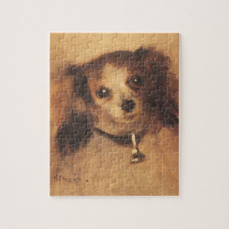 Head of a Dog by Pierre Renoir, Vintage Fine Art Jigsaw Puzzle