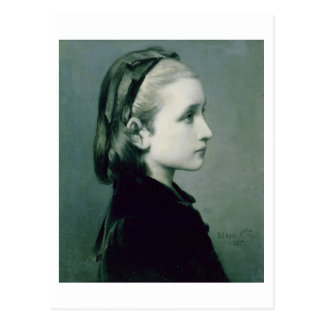 Head of a Girl, 1867 Postcard