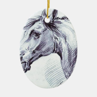 Head of a Horse by Alexander Orlowski Ceramic Ornament