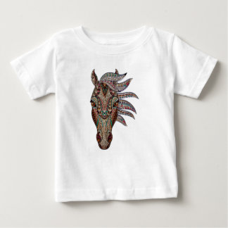 Head of a horse painted on glass like art baby T-Shirt
