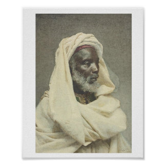 Head of a Moor by  Tapiro y Baro Poster