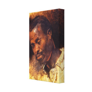 Head of a Negro by Rubens Gallery Wrapped Canvas